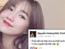 Kiều Trinh bị dân mạng phản ứng dữ dội vì viết status bóng gió xúc phạm người Hà Nội