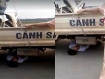 """Bị tạm giữ xe do vi phạm giao thông, nam thanh niên chui vào gầm xe ôtô CSGT """"ăn vạ"""""""