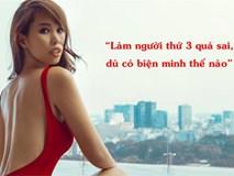 Siêu mẫu Hà Anh khẳng định 'làm người thứ 3 sai quá, dù có biện minh như thế nào'