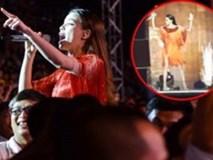 Hồ Ngọc Hà hú hồn vì suýt gặp nạn trên sân khấu