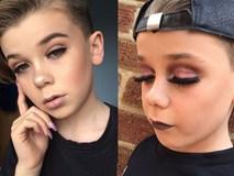 Bé trai 10 tuổi khiến các cô nàng điêu đứng vì tài trang điểm chuyên nghiệp thành thần