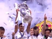 Khoảnh khắc Ronaldo và đồng đội nâng cao chiếc cúp Champions League