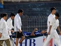 Ngoại binh Quảng Nam nhập viện cấp cứu vì bị sút bóng vào mặt