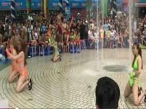 Dàn nữ trẻ mặc bikini nhảy múa phản cảm trước mặt trẻ em gây xôn xao