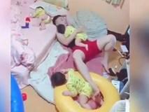 Ông bố một mình ru ba con ngủ khiến dân mạng phát sốt