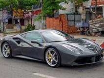 Cường Đô La tậu thêm siêu xe Ferrari 488 GTB màu xám