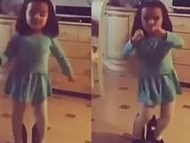 Cô bé vừa mang giày cao gót vừa nhún nhảy thu hút hơn 15 triệu lượt xem