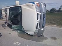 Giám đốc công ty vệ sĩ lái xe Fortuner hất tung xe CSGT