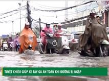 Tuyệt chiêu giúp xe tay ga an toàn khi đường bị ngập