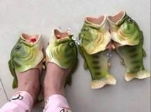 Giới trẻ Việt rộ mốt đi dép cá rô phi xanh vào mùa hè