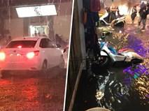 Chiếc ô tô ích kỉ gieo nỗi thống khổ cho hàng chục con người trong ngày mưa lớn