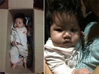 Bé gái khoảng 5 tháng tuổi bị bỏ rơi trong thùng carton cùng quần áo, bỉm sữa