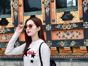 Hoa hậu Đặng Thu Thảo đi du lịch ở 'Đất nước hạnh phúc nhất thế giới'