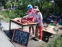 Dân tự mổ lợn, bán vỉa hè rẻ giật mình: 100.000 đồng/4kg