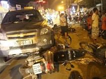Nghi án công an lái ô tô gây tai nạn liên hoàn khiến nhiều người bị thương