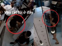 Màn trộm túi xách cực tinh vi ở cửa hàng quần áo