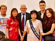 Hoàng Thùy Linh thân thiết dự tiệc với gia đình Vĩnh Thụy