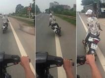 Khiếp đảm xem thanh niên lạng lách đánh võng, 'thách thức tử thần' ở Bắc Giang