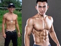 Lịch tập sở hữu bụng 6 múi của chàng trai từng nặng 55 kg