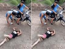 Cô gái nằm quằn quại giữa đường nghi bị ảo giác do sử dụng ma túy đá