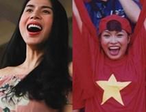 Loạt biểu cảm của mỹ nhân Việt khi đi cổ vũ bóng đá