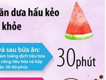 Những lưu ý khi ăn dưa hấu kẻo tổn hại sức khỏe