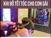 Khi các ông bố tết tóc cho con cái