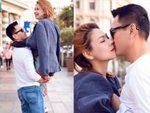 Lãng mạn chưa, bạn trai Việt kiều bế bổng Thanh Thảo giữa phố đông người