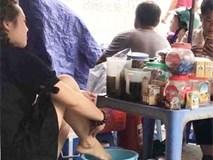 """Quán trà vỉa hè bị dẹp sau khi nhân viên salon tóc dàn dựng clip """"lấy nước rửa chân để pha trà cho khách"""""""