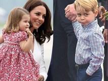 """Hoàng tử bé George ra dáng """"soái ca tí hon"""" khi đi công du cùng bố mẹ và em gái"""
