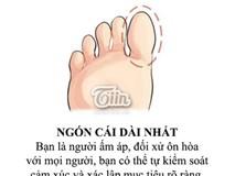 Độ dài của ngón chân bật mí điều gì về bạn?