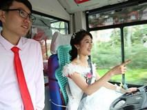 Cô dâu tự tay lái... xe buýt đưa chú rể đến lễ cưới