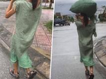 """Diện """"váy bao tải"""" ra phố, cô nàng khiến bất kỳ ai cũng phải sững sờ"""