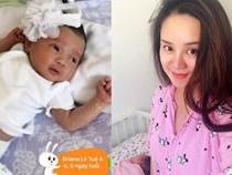 Vy Oanh khoe cận cảnh gương mặt và ý nghĩa tên con gái mới sinh