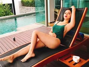 Trở lại sau scandal vạ miệng, Hương Giang Idol diện bikini nóng bỏng hết cỡ