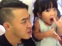 Clip bố cùng con gái nhỏ diễn hài cực kỳ dễ thương