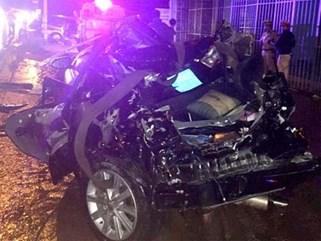 2 cán bộ Công an Bình Thuận tử vong khi xe Camry bị tông từ phía sau
