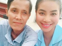 Phạm Hương lập tức về quê nhà khi nghe hung tin bố hấp hối