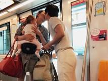 Vợ chồng Phan Như Thảo – Đức An hôn nhau đắm đuối ở nơi công cộng