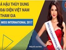"""Á hậu Thùy Dung đại diện Việt Nam tham gia """"Miss International 2017"""