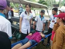 Đứt cáp trò chơi siêu nhún trên Hồ Mây, 1 du khách bị thương nặng