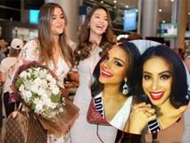 Phạm Hương rạng rỡ ra sân bay đón bạn thân là hoa hậu Dominica