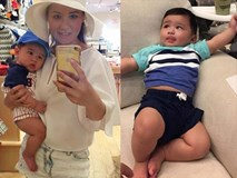 Hình ảnh mới nhất của con trai 5 tháng tuổi nặng 12kg cực bụ bẫm của Đan Trường