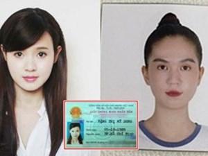 Sao Việt ảnh thẻ mới chụp photoshop rõ đẹp, nhìn sang ảnh chứng minh thư thì giật cả mình