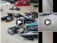 Phuket ngập nặng, nhiều phương tiện phải 'ngâm mình' trong biển nước