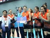 Đội tuyển bóng chuyền nữ Việt Nam được thưởng nóng 100 triệu đồng