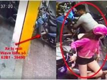 Clip: Nhóm đối tượng dàn cảnh, trộm xe cực bài bản ngay giữa phố