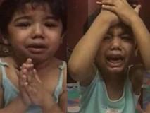 """Bé gái bị tát khi học toán, khóc lóc trong sợ hãi """"xin làm ơn nhẹ tay với con"""""""