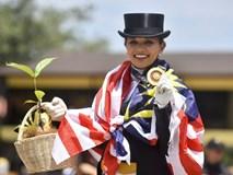 Bà bầu xinh đẹp người Malaysia giành HC vàng Sea Games môn đua ngựa