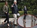 Trang trí Giáng sinh cho Nhà Trắng, bà Melania Trump gây tranh cãi khi sử dụng toàn cây thông màu đỏ-9